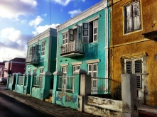 Buildings in the capital, Willemstad, fading away