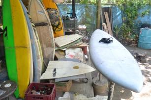 Surboard graveyard