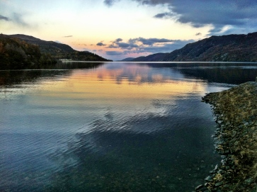 Sunset over Loch Ness